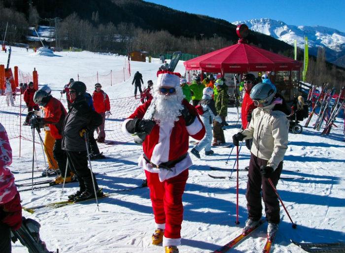 Papá Noel en Aramón Cerler