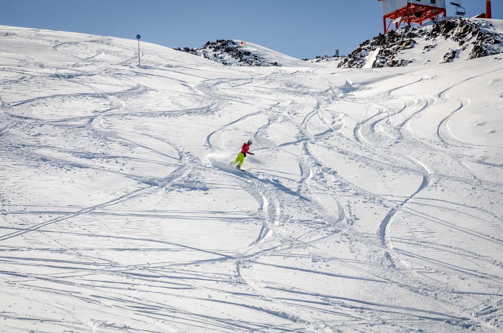 zona freeride nevados