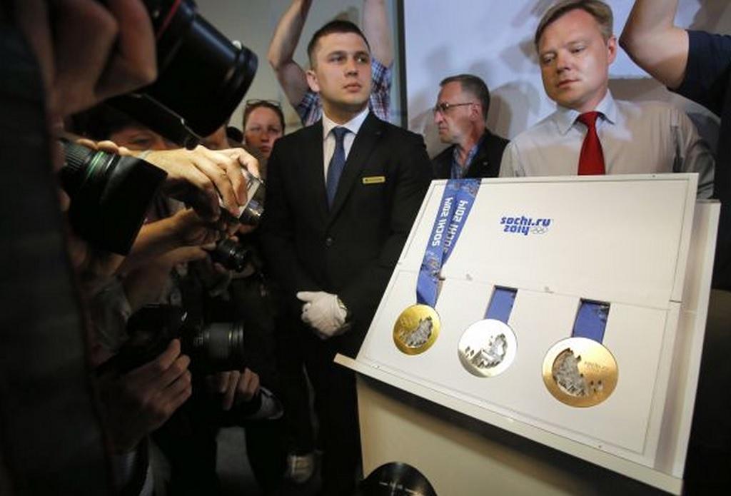 Presentación medallas para los Juegos Olímpicos de Invierno 2014
