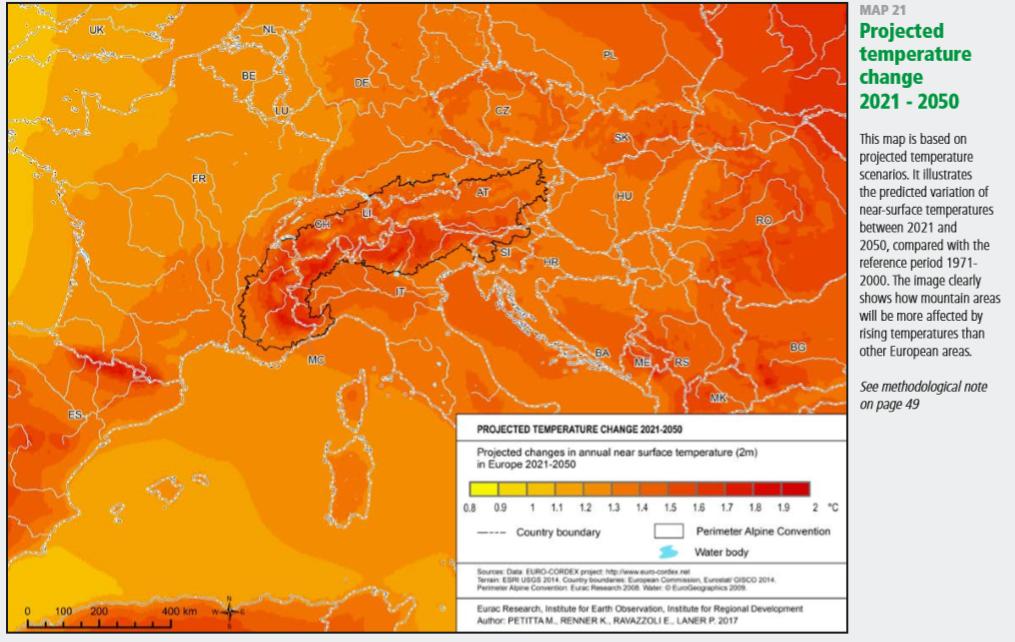 previsión camibo climático 2021-2050
