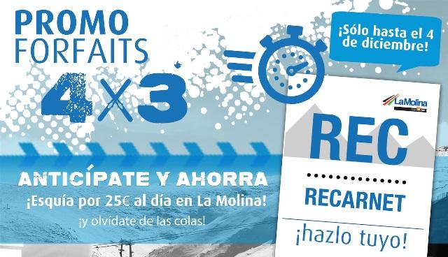 Imagen Forfait recargable La Molina 4x3