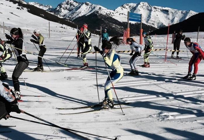 Competición del equipo de la RFEDI de esquí de fondo. Imagen de archivo
