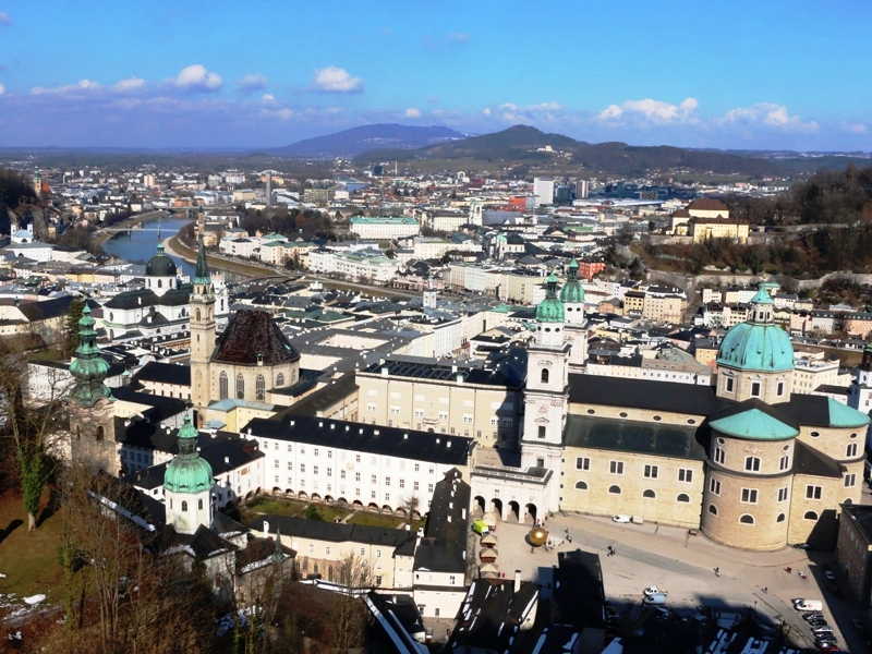 Centro de Salzburgo desde la fortaleza Hohensalzburg