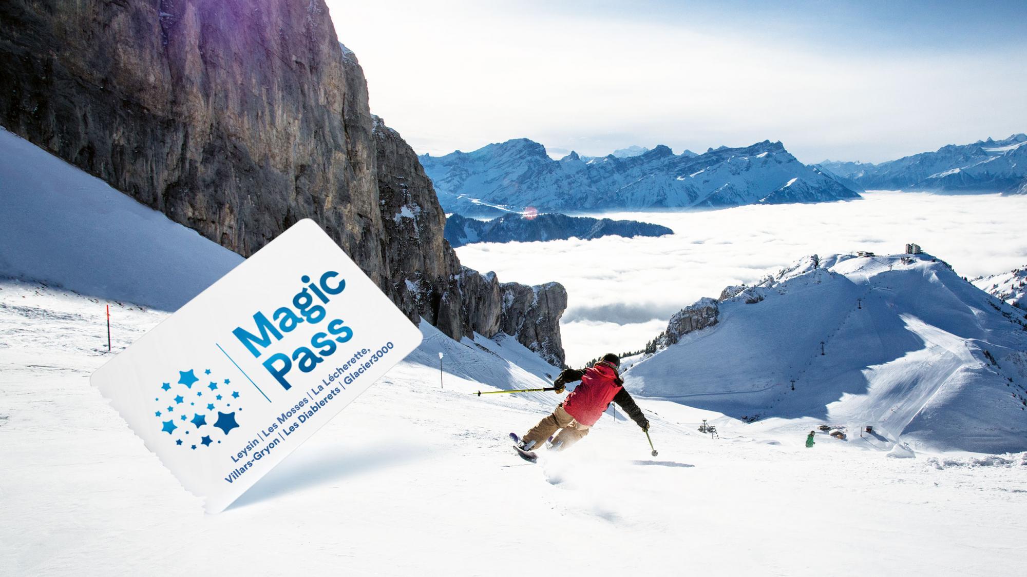 esquiando con el magicpass