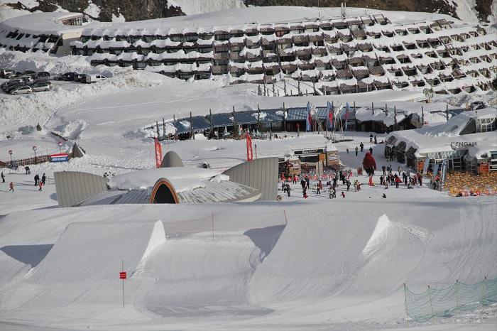 El Snowpark de Piau/Gold Mountain se sitúa muy cerca de la base 1850 de la estación