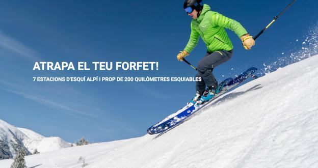 FGC pone a la venta, en promoción, los forfaits de sus 7 estaciones para esquiar en 200 Km de pistas