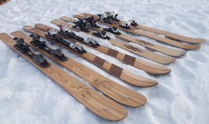 """Los esquís artesanos de madera de un carpintero de Sort """"atrapan"""" a todo aquel que los esquía"""