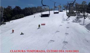 Puerto de Navacerrada cierra hoy la temporada de esquí y puede que para siempre