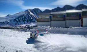 Fernando Alonso cambia el asfalto por la nieve y el hielo de Pas de la Casa