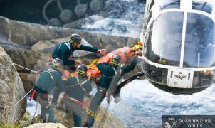 Fin de semana nefasto en el Pirineo con 11 personas rescatadas y un muerto en la montaña