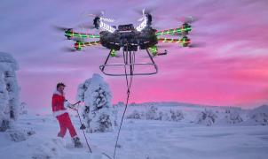 Amazon patenta un dron que puede arrastrar a los esquiadores y sustituir telesillas y telesquís