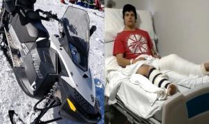 Declaraciones del esquiador atropellado por una moto de nieve en Cerro Catedral