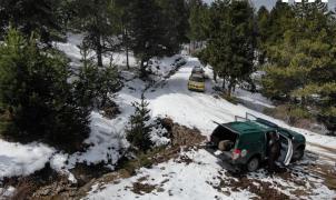 Los agentes rurales denuncian unos esquiadores de montaña cerca de puigcerdà