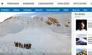 Esquiadores catalanes esquivan un alud en la Cerdaña francesa esta tarde