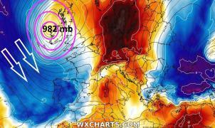 El domingo llega Mathieu: una profunda borrasca que traerá lluvias, nevadas y caída de las temperaturas