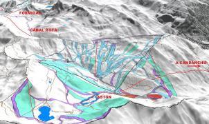 Aragón dispuesta a dar un impulso a la unión de las estaciones de Formigal, Astún y Candanchú