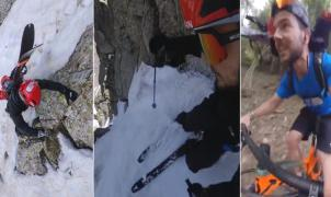 Increíble desconfinamiento de Aymar Navarro, esquiando dos canales en la Val d'Aran