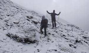 Nieva en las Azores en pleno mes de junio