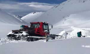 El Azufre argentino se pone a prueba antes de abrir con 4 metros de nieve