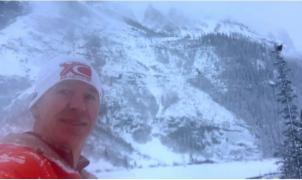 Un runner graba en vídeo una espectacular avalancha en Lake Louise mientras huye corriendo