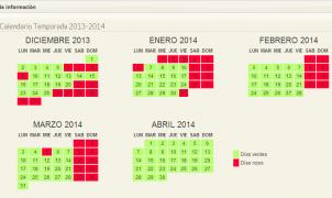 Calendario de apertura y cierre de las estaciones de la Península Ibérica