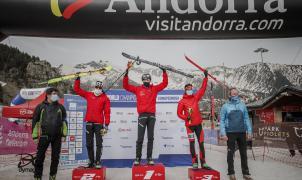 Oriol Cardona, subcampeón del Mundo Sprint. Pau Coll Bronce U23. Ares Torra plata en la U18