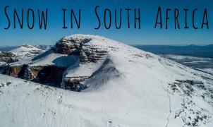 Espectacular vídeo dron de la mayor nevada en 10 años en Sudáfrica