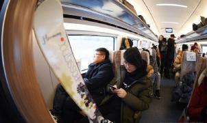 ¿Por qué los chinos empiezan a ir a esquiar en tren?