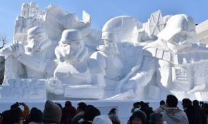 Darth Vader conquista Sapporo (Japón) con un ejercito imperial de nieve
