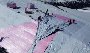 """Kitzbühel reduce el """"cultivo de nieve"""" a la mínima expresión por presiones medioambientales"""