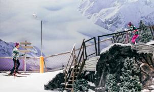 Ponen una pista de esquí en un teatro de Málaga