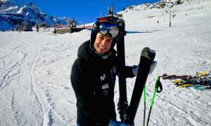 Coretti patrocina al esquiador Dani Sanchez en competiciones Master