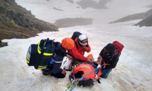 8 horas para rescatar a un excursionista en el Pic del Carlit, en la Cerdanya francesa