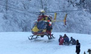 Momento del rescate del esquiador de 17 años en Gourette