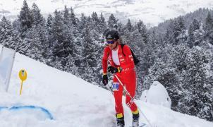 Kilian Jornet en la prueba individual d ela Copa del Mundo ISMF de Cambre d'Aze