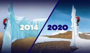 El alpinista canadiense Will Gadd escala los últimos glaciares del Kilimanjaro antes de su desaparición