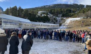 Protestas en las estaciones de esquí de Francia contra el cierre de los remontes mecánicos