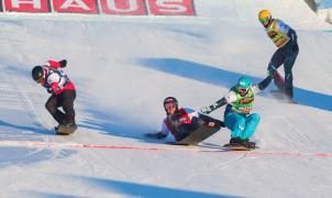 Así consiguió Lucas Eguibar un oro histórico en los Mundiales de Snowboardcross en Idre Fjäll