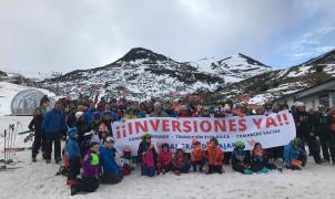 Manifestación en Oviedo para reclamar al Gobierno más inversiones en Valgrande Pajares