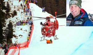 Vídeo de la escalofriante caída del suizo Marc Gisin en el descenso de Val Gardena
