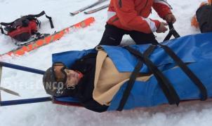 Mercedes Milá evacuada tras sufrir un accidente de esquí en Sestrière (Italia)