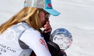 Mikaela Shiffrin no puede contener las lágrimas al sumar su cuarto Globo de Cristal en Soldeu