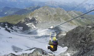 Verbier inaugura la tirolina más alta del mundo con velocidades de hasta 130 km/h, ¿quién da más?