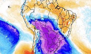 Avanza una gran ola polar en Sudamérica con nevadas en lugares insólitos