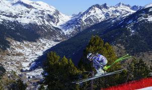 Los corredores estrenan la pista Àliga y ya superan los 122 km/h en los entrenos de Descenso