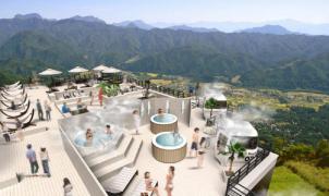 Hakuba, la estación del powder japonés abre una playa a 1.400 m con sauna en un telecabina
