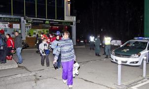 Imagen de la evacuación de los esquiadores atrapados en Panticosa