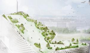 La azotea de una planta de energía albergará la primera pista de esquí de Copenhague