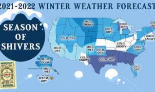"""Almanaque del viejo granjero: """"Este invierno podría ser uno de los más largos y fríos en años"""""""