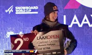 Plata para Queralt Castellet en la Copa del Mundo FIS de halpipe de Laax